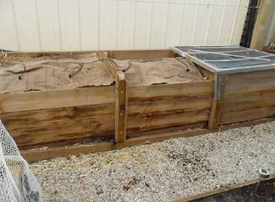 Wooden compost bins for home gardens
