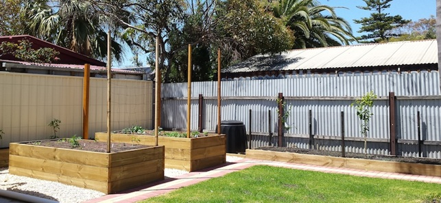 Home food garden installed in LargsBay