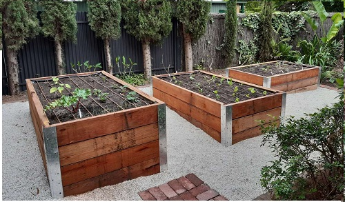 Newly installed vegetable garden in Allenby Adelaide